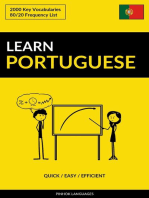 Learn Portuguese: Quick / Easy / Efficient: 2000 Key Vocabularies