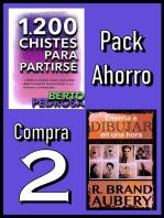 Pack Ahorro, Compra 2: 1200 Chistes para partirse, de Berto Pedrosa & Enseña a dibujar en una hora, de R. Brand Aubery