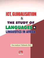 ICT, Globalisation and the Study of Languages and Linguistics in Africa