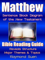 Matthew - Bible Reading Guide with Sentence Block Diagram - Structure & Theme