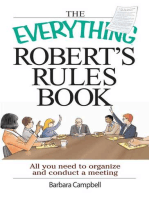 The Everything Robert's Rules Book
