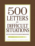 500 Letters for Difficult Situations