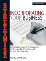 Streetwise Incorporating Your Business