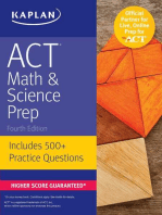 ACT Math & Science Prep