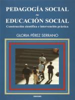 Pedagogía social-Educación social: Construcción científica e intervención práctica