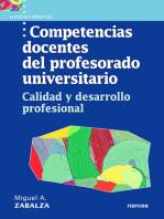 Competencias docentes del profesorado universitario: Calidad y desarrollo profesional