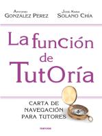 La función de tutoría: Carta de navegación para tutores