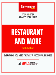 Restaurant and More: Step-By-Step Startup Guide