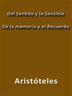 Del sentido y lo sensible de la memoria y el recuerdo