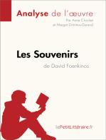 Les Souvenirs de David Foenkinos (Analyse de l'oeuvre)