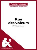 Rue des voleurs de Mathias Énard (Fiche de lecture)