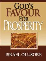 God's Favour For Prosperity