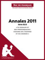 """Annales 2011 Série ES/S """"Le roman et ses personnages"""