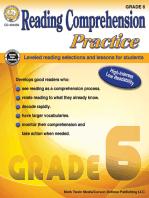 Reading Comprehension Practice, Grade 6