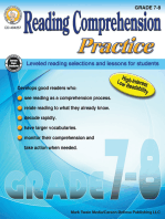 Reading Comprehension Practice, Grades 7 - 8