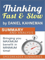 Thinking Fast and Slow by Daniel Kahneman