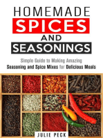 Homemade Spices and Seasonings