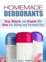 Homemade Deodorants