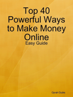 Top 40 Powerful Ways to Make Money Online