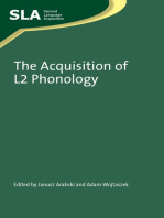 The Acquisition of L2 Phonology