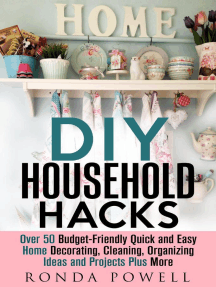 DIY Household Hacks: Over 50 Budget-Friendly, Quick and Easy Home Decorating, Cleaning, Organizing Ideas and Projects Plus More: DIY Hacks