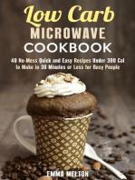 Low Carb Microwave Cookbook
