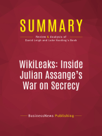 Summary: WikiLeaks: Inside Julian Assange's War on Secrecy: Review and Analysis of David Leigh and Luke Harding's Book