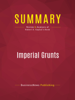 Summary: Imperial Grunts: Review and Analysis of Robert D. Kaplan's Book