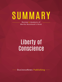 Summary: Liberty of Conscience: Review and Analysis of Martha Nussbaum's Book