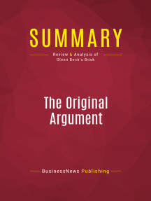 Summary: The Original Argument: Review and Analysis of Glenn Beck's Book