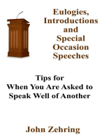 Eulogies, Introductions and Special Occasion Speeches