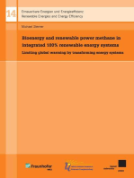 Bioenergy and renewable power methane in integrated 100% renewable energy systems