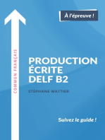 Production écrite DELF B2