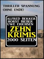 Zehn Krimis - 2000 Seiten