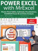 Power Excel 2016 with MrExcel: Master Pivot Tables, Subtotals, Charts, VLOOKUP, IF, Data Analysis in Excel 2010–2013