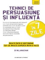 Tehnici de persuasiune și influență