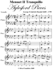 Menuet 2 Tranquillo Aylesford Pieces - Easy Piano Sheet Music Free download PDF and Read online