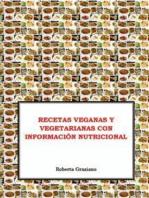 Recetas Veganas Y Vegetarianas Con Información Nutricional