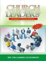 Church Leaders' Teaching and Training Manual