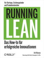 Running Lean: Das How-to für erfolgreiche Innovationen