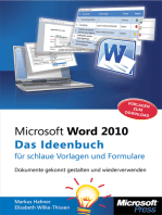 Microsoft Word 2010 - Das Ideenbuch für schlaue Vorlagen und Formulare