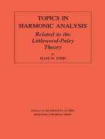 Topics in Harmonic Analysis Related to the Littlewood-Paley Theory. (AM-63), Volume 63
