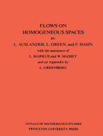 Flows on Homogeneous Spaces. (AM-53), Volume 53