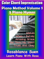Piano Course - Color Chord Improvisation Method Volume 1 - Learn 5 Gospel Hymns with Rosa