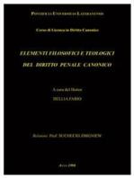 Elementi filosofici e teologici del diritto penale canonico