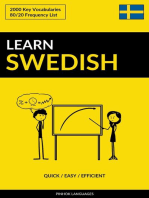 Learn Swedish: Quick / Easy / Efficient: 2000 Key Vocabularies