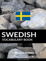 Swedish Vocabulary Book: A Topic Based Approach