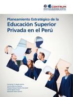 Planeamiento Estratégico de la Educación Superior Privada en el Perú