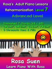 Rosa's Adult Piano Lessons Reharmonization Level 7 Advanced Level - Diminished 7 Chords (b3 + b5): Learn Piano With Rosa