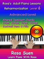 Rosa's Adult Piano Lessons Reharmonization Level 6 Advanced Level - Altered Dominant Chords